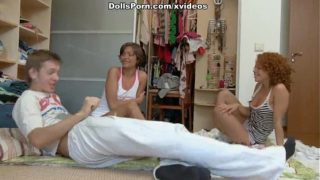 Lunatic Group Sex With Two Hotties Scene 1